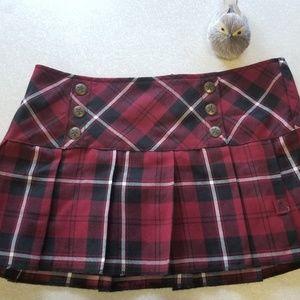 Tripp NYC Plaid Mini Skirt